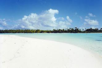 Photo: #023-Plage de sable blanc à Tetiaroa, l'île aux oiseaux