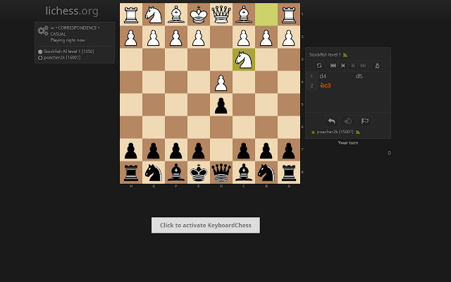 LiKeyChess - Lichess with your keyboard!