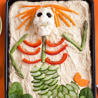 Forget Halloween Candy! Try This Veggie Skeleton Platter Instead