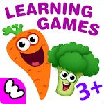 FUNNY FOOD 2! Kindergarten Games! Puzzles for Kids