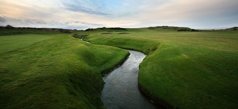 Photo: Stream at the 4th Hole Mussenden Course