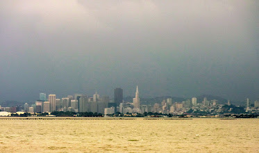 Photo: When wind and tides are right, mud rises and the waters of the Bay turn yellow