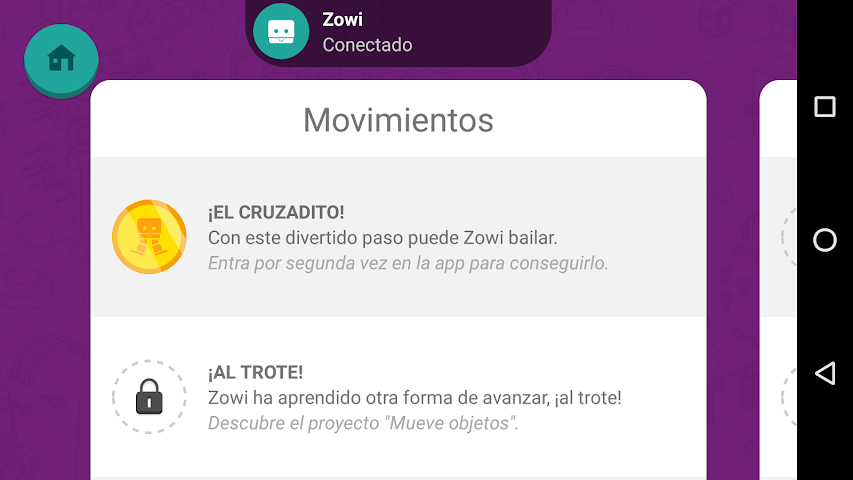 android Zowi App Screenshot 7
