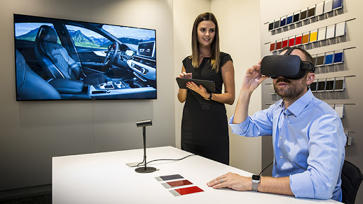 Audi's virtual reality-enabled Audi Customer Private Lounge.