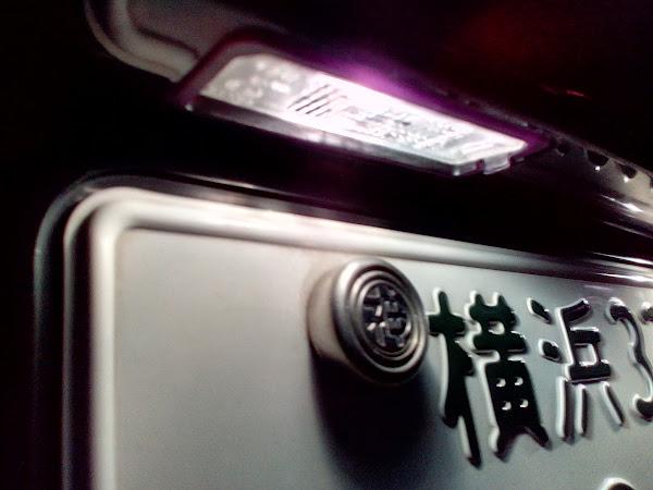 Golf7 ライセンスプレート ライト