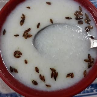 Nugalu Kanji/Rice Sooji Porridge.