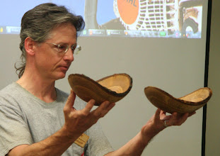 Photo: Duane Schmidt made a lovely pair of shallow, natural-edge bowls from the 200+ year old white oak from Tudor Place.