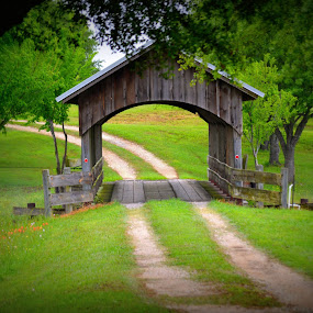 Where the Road Leads by Rhonda Kay - Buildings & Architecture Bridges & Suspended Structures