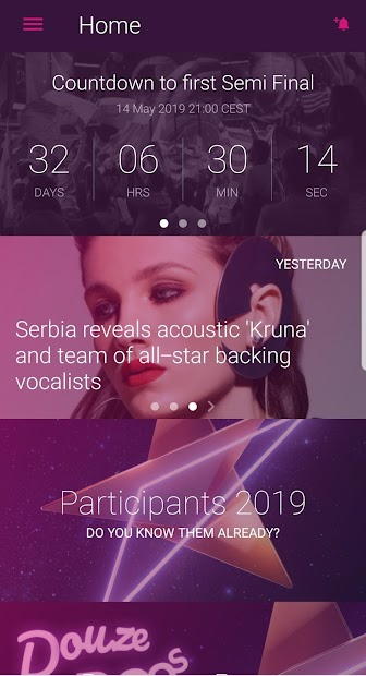 Eurovision Song Contest Android App Screenshot