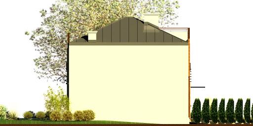 Dom przy Miedzianej - Elewacja lewa