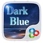 Dark Blue GO Launcher Theme v1.0 Apk