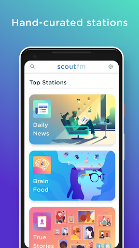 Scout FM - Podcast Radio screenshot 1