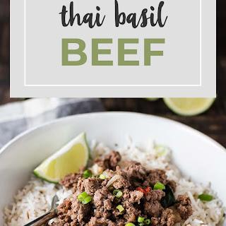 Thai Basil Beef.