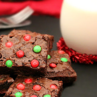 Chocolate Fudge Holiday Brownies.