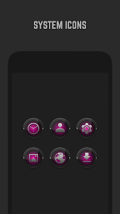 Black and Pink Icon Pack- screenshot thumbnail