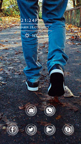 android Foot Leaves Theme Screenshot 0