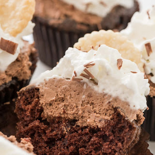 French Silk Cupcakes
