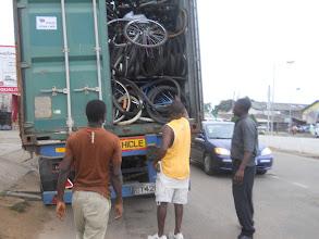Photo: Working Bikes shipment (possible DSG bikes)