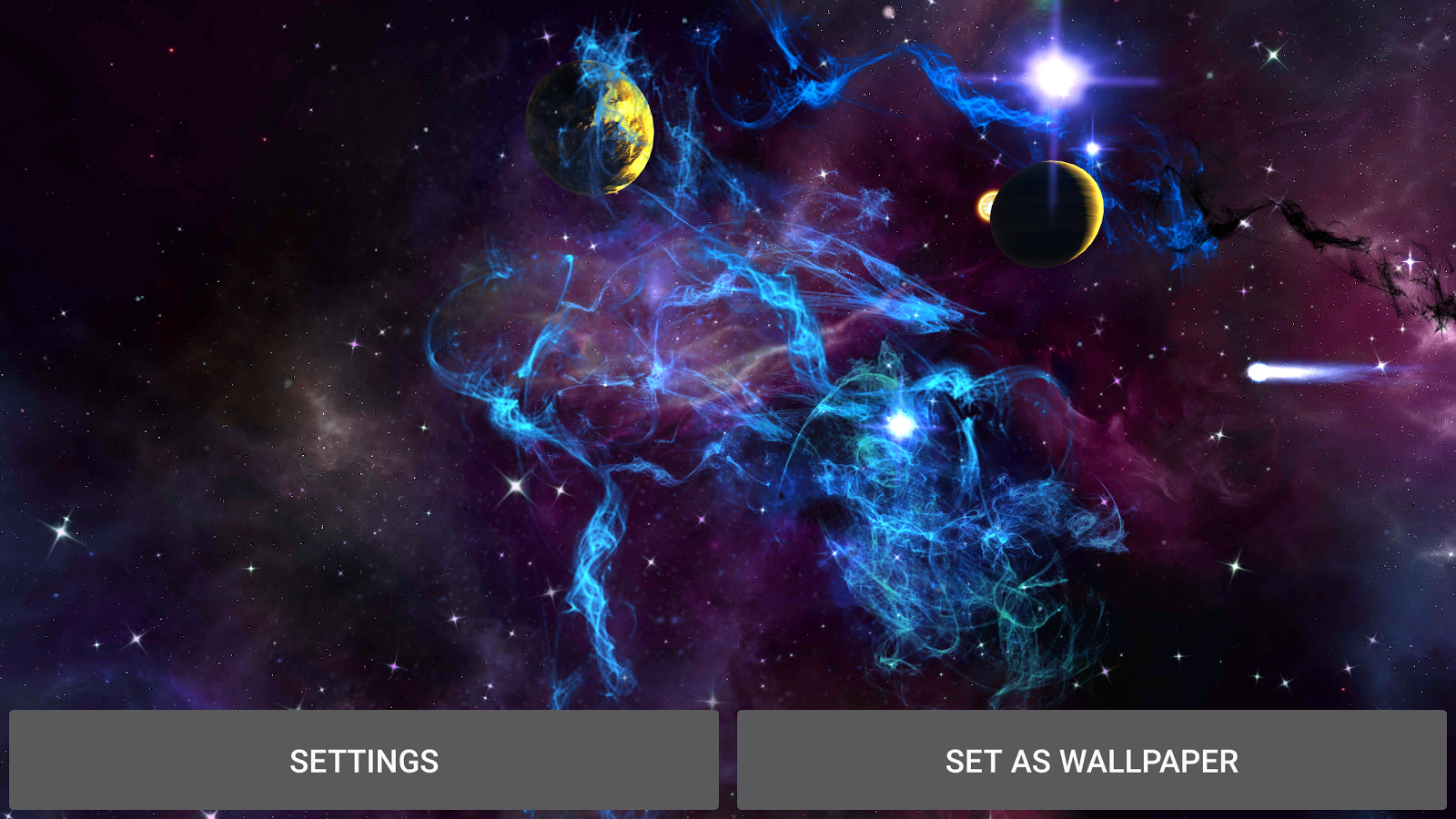 3d Parallax Wallpaper Pro Fantasy Galaxy Live Wallpaper Android Apps On Google Play