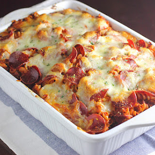 Pizza Pasta Bake.