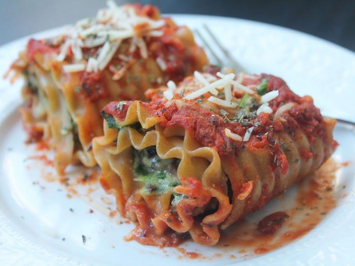 Kale, Spinach Mushroom Lasagna Roll Ups Recipe | Yummly