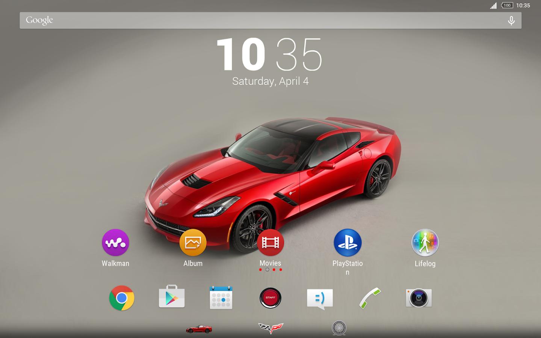Google themes xp - Xp Theme Corvette Screenshot