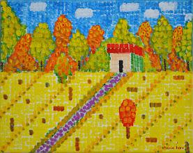 Photo: Мария Иван, Желтое поле, 50х40 см, холст, акрил