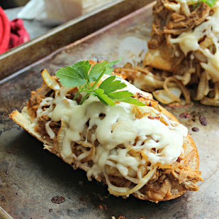 Sweet Pulled Pork French Bread Pizza.