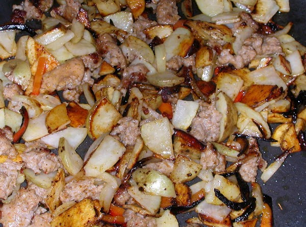 remove lid and crisp up potatoes.(turn heat up to med high)  salt and...