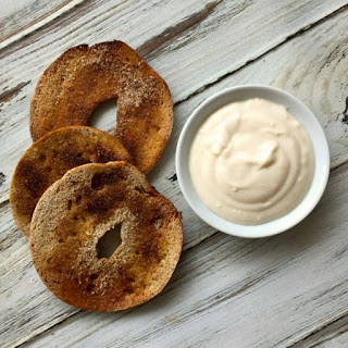 Cinnamon Sugar Bagel Chips with Yogurt Dip
