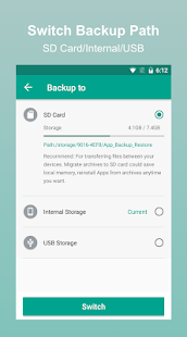 App Backup Restore - Personal Contact Backup Screenshot