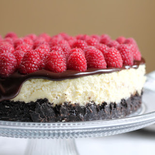 Raspberry Cheesecake with Oreo Crust for #NationalCheesecakeDay