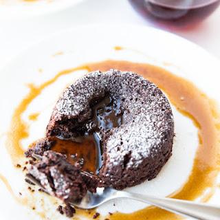 Vegan Salted Caramel Lava Cakes
