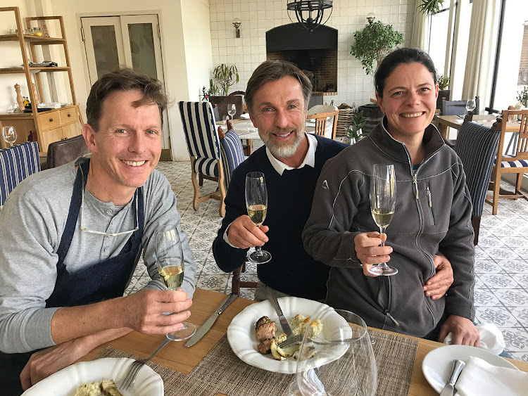 Chef Christiaan Campbell (left), Wade Bales (middle) and winemaker Lizelle Gerber (right)