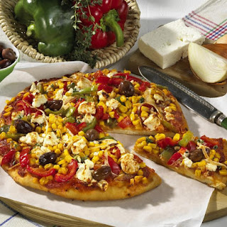 Vegetarian Pizza with Feta Cheese