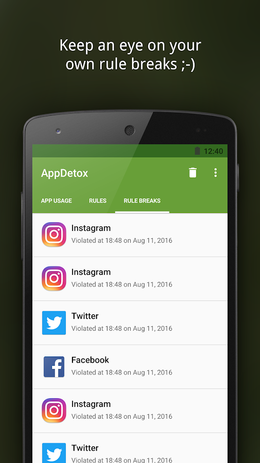 AppDetox - App Blocker for Digital Detox – Capture d'écran
