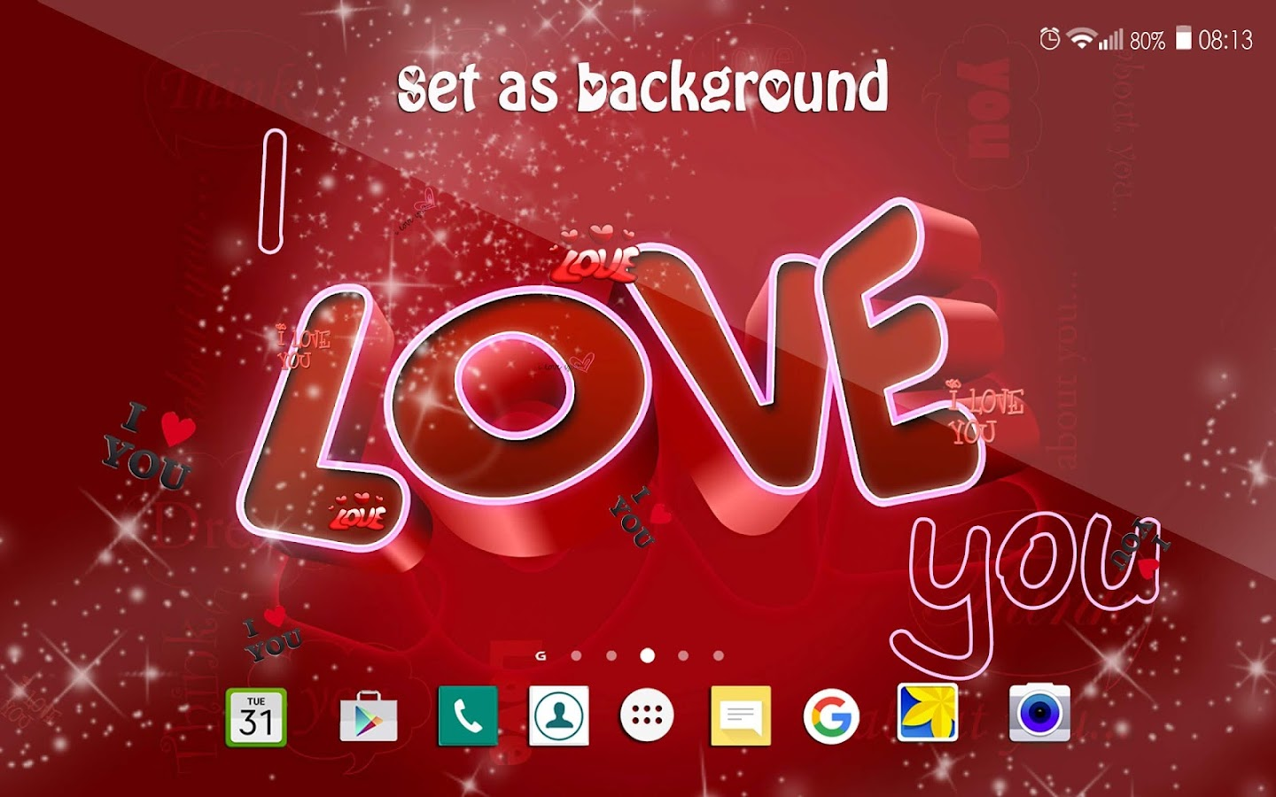 Wallpaper I Love You Live : I Love You Live Wallpaper ?? Romantic Images - Android Apps on Google Play
