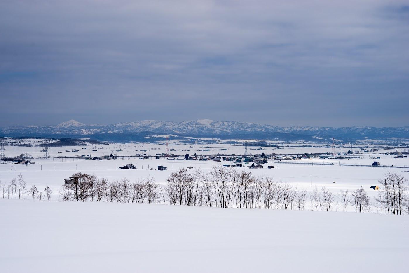 北竜町眺望の丘付近より