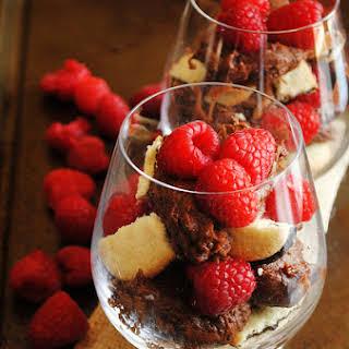 Chocolate, Milano and Raspberry Parfaits.