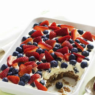 Summer Fruit Layer Pudding.