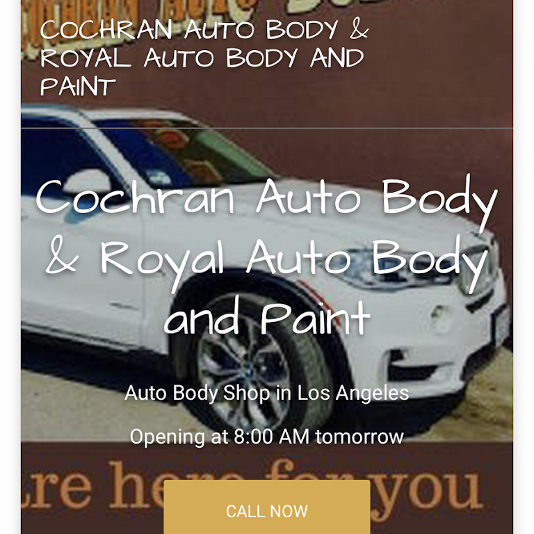 Cochran Auto Body Royal Auto Body And Paint Auto Body