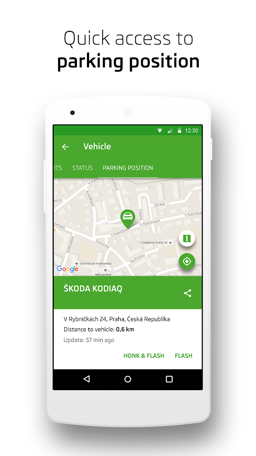 ŠKODA Connect- screenshot