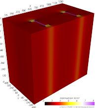 Photo: Wärmestromdichten (zur Identifikation von Wärmebrücken) Farbskala: Astronomie Werteintervall: 2-8 W/m²