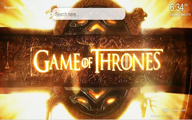 Game of Thrones HD Wallpaper New Tab 2019