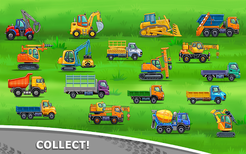 Truck games for kids – build a house, car wash 6