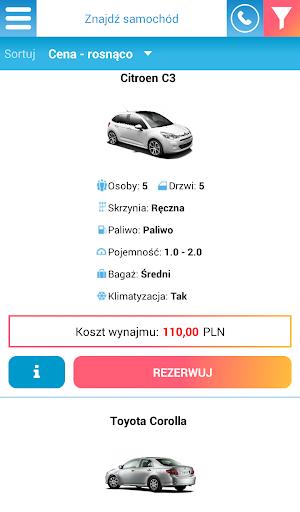 Wypou017cyczalnia samochodu00f3w  screenshots 3