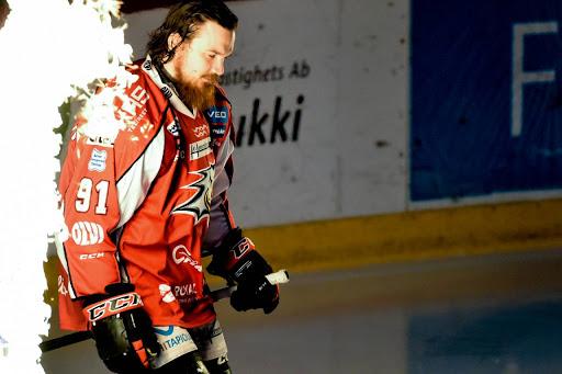 Tuomas Vänttinen pelaa maanantaina viimeisen ottelunsa kotkapaidassa, ainakin toistaiseksi. (Kuva: Samppa Toivonen)