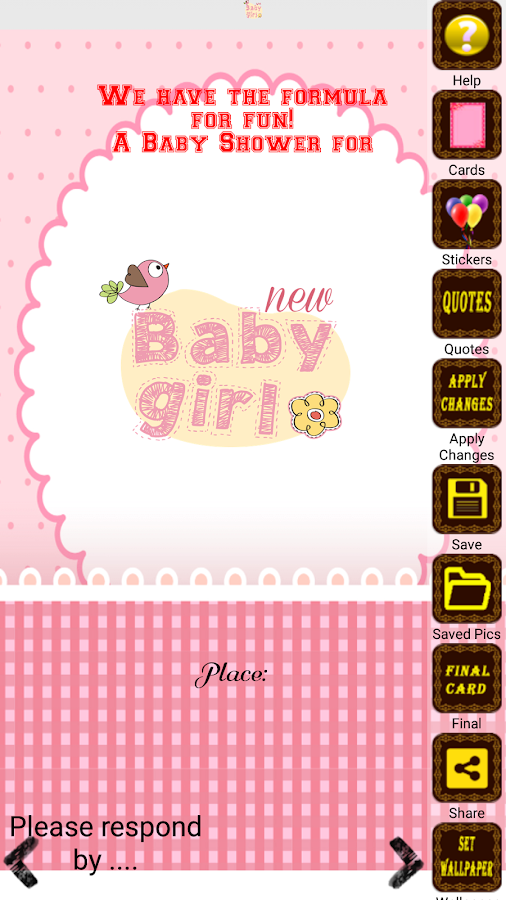 baby shower invitation maker - android apps on google play, Baby shower invitations