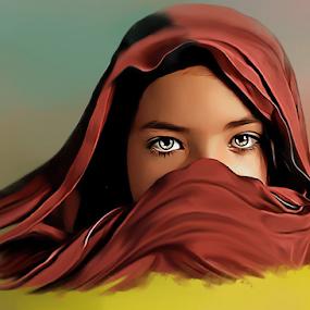 Afghan Girl by Kamran Khan - Digital Art People ( painting digital painting, photoshop art, art, artistic, kamiart, artistic objects, painting, portrait, artwork, photoshop )