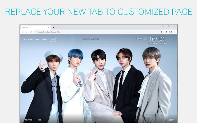 Kpop TXT Wallpaper HD Kpop TXT New Tab